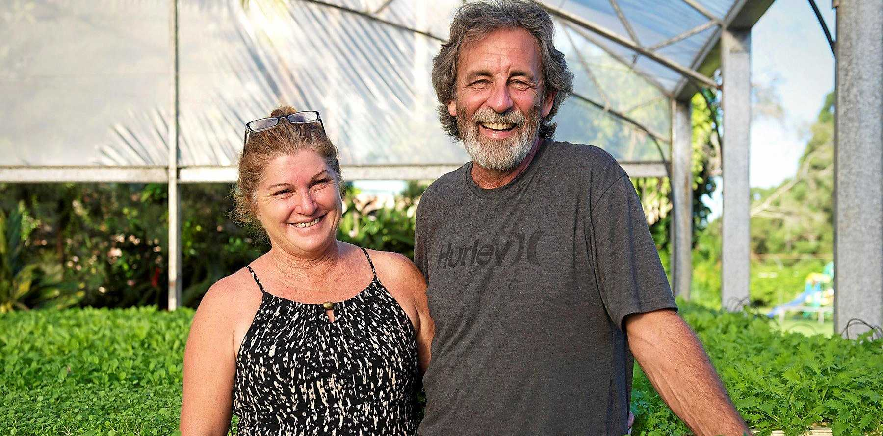 Rob and Narelle Andrews at their Burringbar farm.