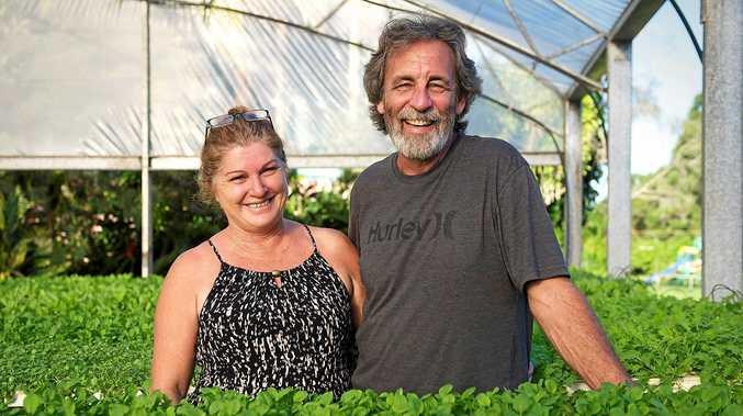 Rob and Narelle Andrews at their Burringbar farm.
