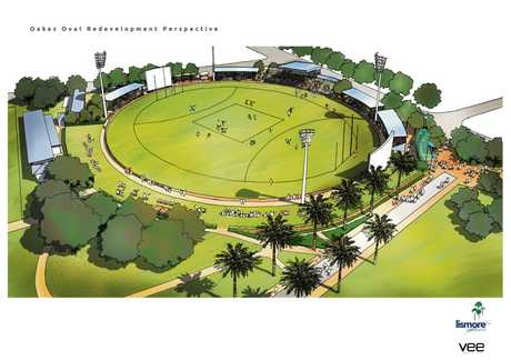 Plans for the upgraded Oakes Oval.
