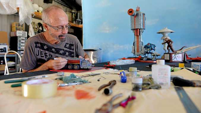 MEMORIAL TROPHY: Mackay Fine Scale Modellers stalwart Greg Martin, who died earlier this year, will be remembered at this weekend's Modelcomp.