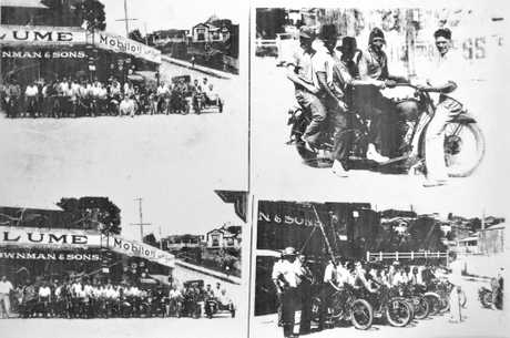 EARLY DAYS: Some historical photos of the Five Ways as it was in the 1920s with some unknown motorcyclists and their riders, taken during that era.