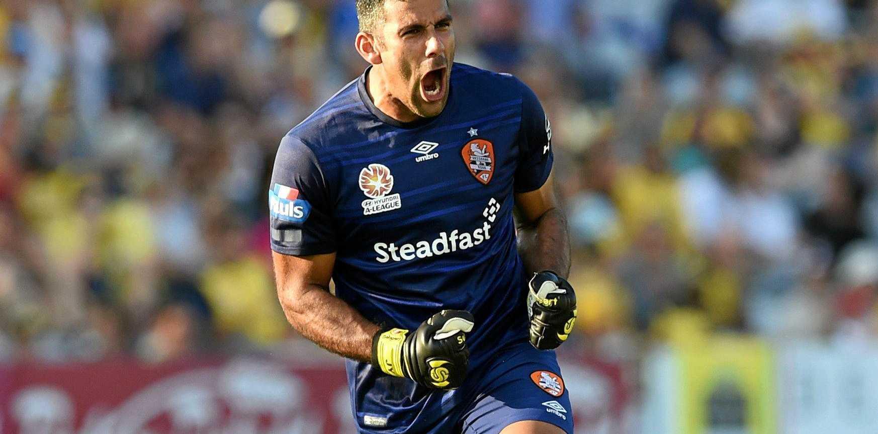 Brisbane Roar goalkeeper Jamie Young.