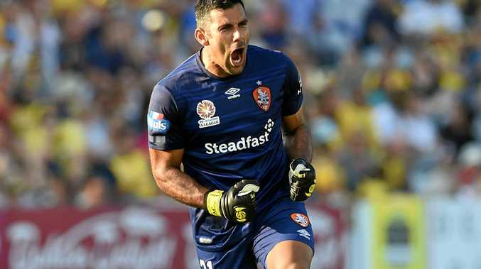 Brisbane Roar goalkeeper Jamie Young.