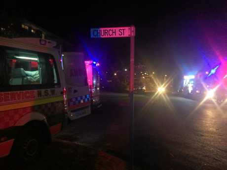 An image taken from the scene of a balcony collapse in Yamba.