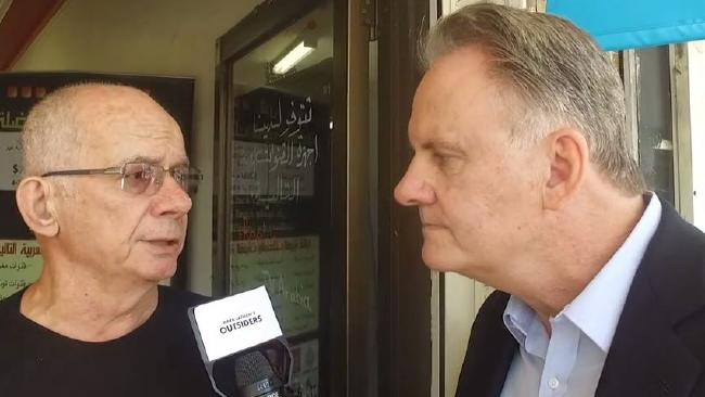 Mark Latham interviewing people in Fairfield about multiculturalism.