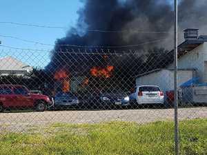 Emergency crews respond to fire in Maryborough