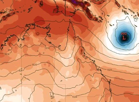 There's a chance of a tropical low or cyclone forming by next weekend, according to one model.