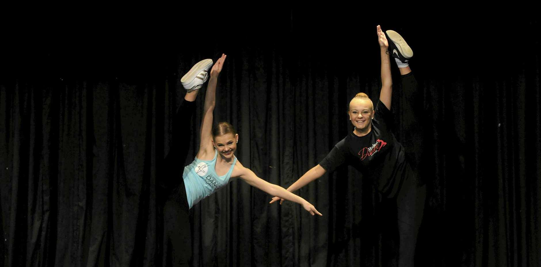 Madeleine Vidler and Hayley Johnson who took part in the Lower Clarence Dance Eisteddfod.