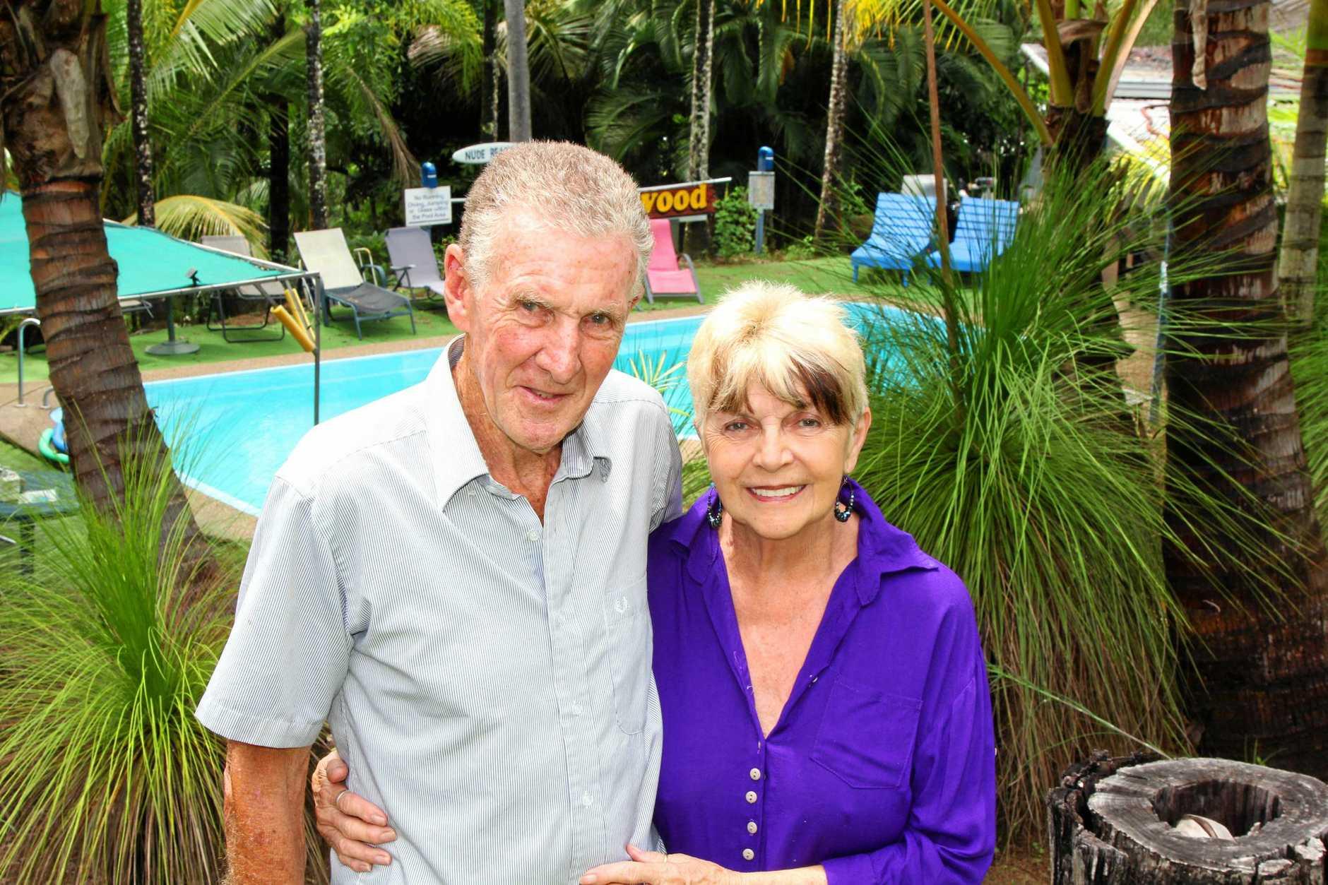 Rogin and Linda Taylor at their Taylorwood resort in Preston.