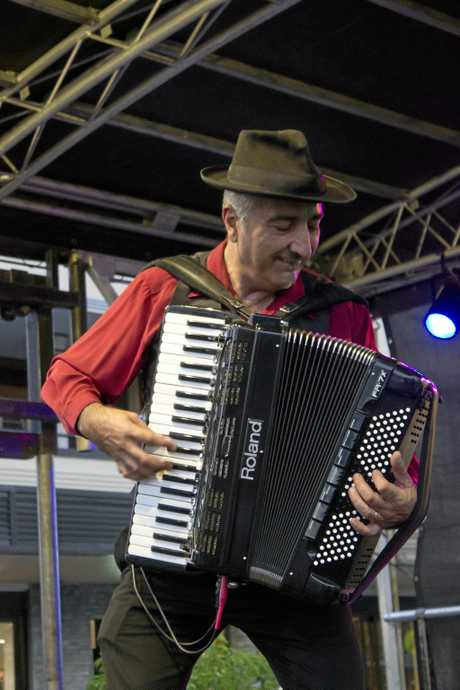 Latin Mafia was brought up from Brisbane to play some traditional Italian folk songs.