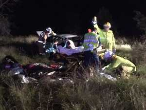 Driver and passengers injured after car loses control
