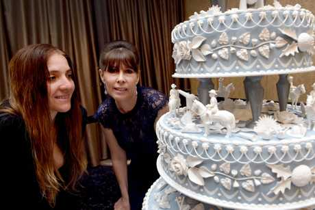 Peace Cake Charity Ball, Maryborough RSL - Artisits of the mixed media piece, Marni Koster and Elizabeth Hersey.