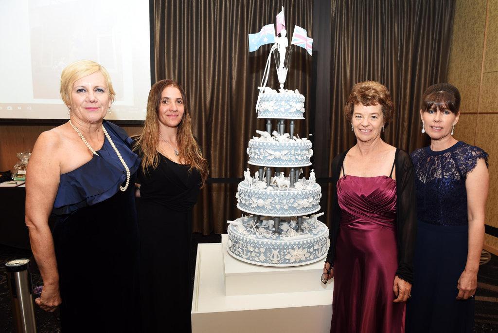 Peace Cake Charity Ball, Maryborough RSL - Elizabeth Lowrie, Debbie Hannam, Marni Koster and Elizabeth Hersey.
