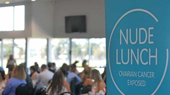 About 100 people packed the Mackay Turf Club as part of a fund-raiser for ovarian cancer.