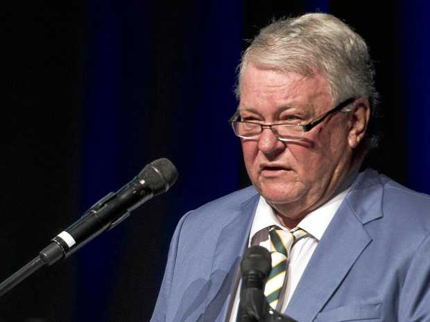 TAX SUPPORT: Flynn MP Ken O'Dowd speaks at Gladstone's Australia Day ceremony earlier this year.