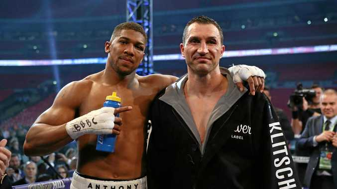 British boxer Anthony Joshua and Wladimir Klitschko.