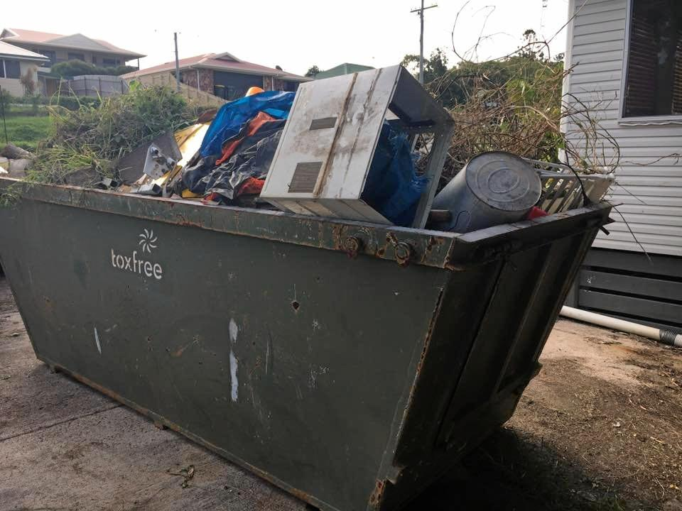 SKIPPING OUT: Julie Owbridge was left with three skips of rubbish after a tenant left her property in a mess with damage to the home as well.