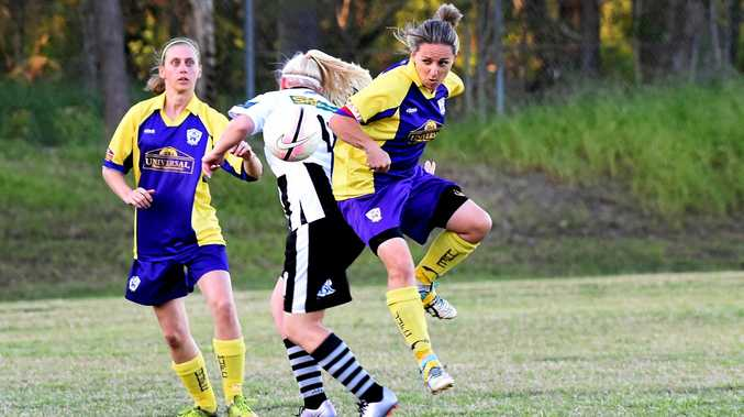 Football Wide Bay Ladies League, Hervey Bay - United Warriors versus Bingera -