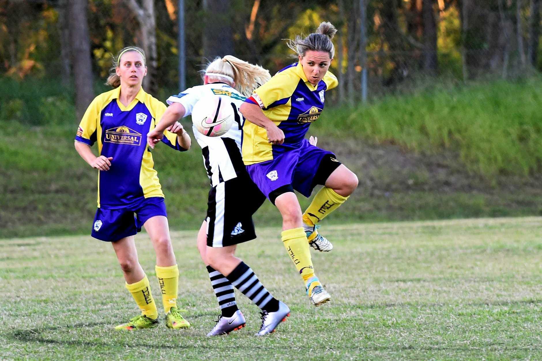 Football Wide Bay Ladies League, Hervey Bay - United Warriors versus Bingera -