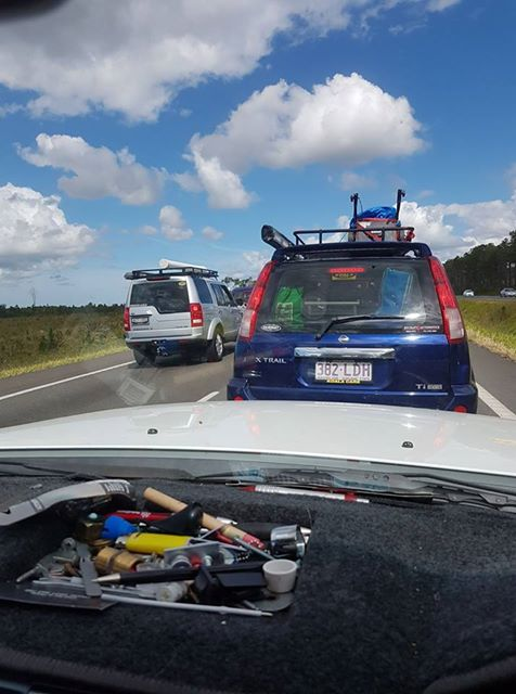Kev Harris posted this snap heading southbound on the Bruce Hwy, near Aussie World.