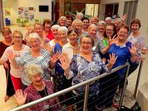 Bay chorus all tuned for Sweet Adelines