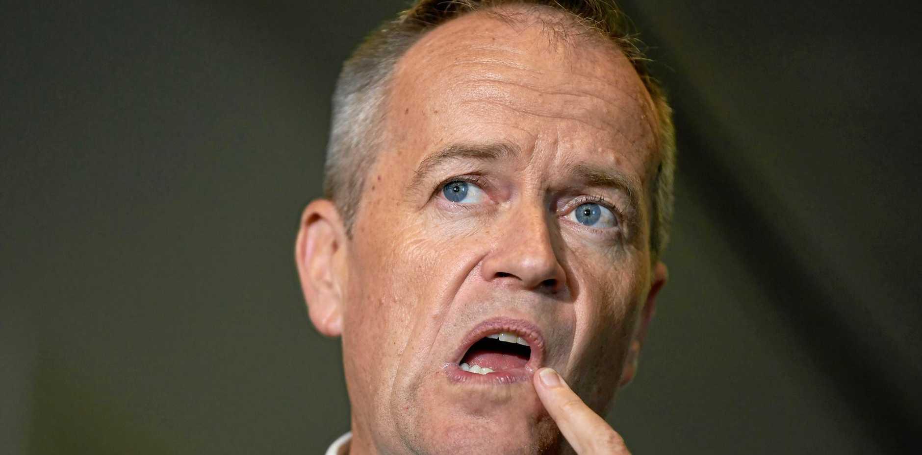 Australia's Opposition Leader Bill Shorten