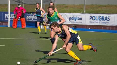 Ipswich hockey player Jarrod Brown represents South West Queensland at the Super League championships.Photo: Andrew Blanchard
