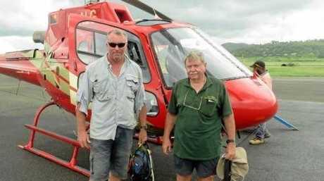 Stephen Harrold (left) and Frank Taylor head back to Port Morseby.