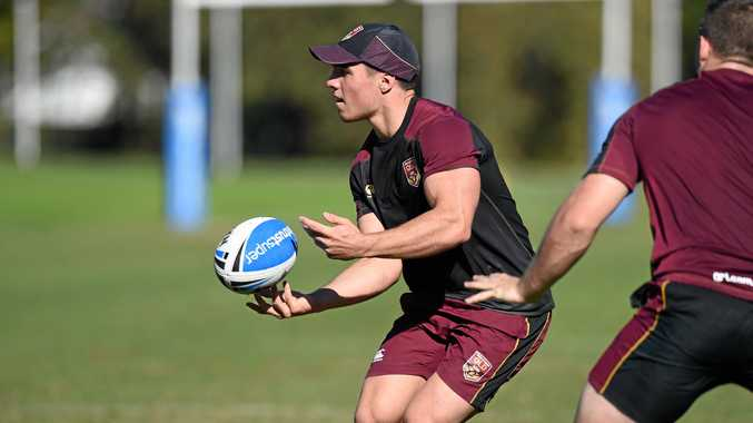 TRAINING RUN: Highfields junior Brodie Croft trains with the Queensland under 20 squad last year.