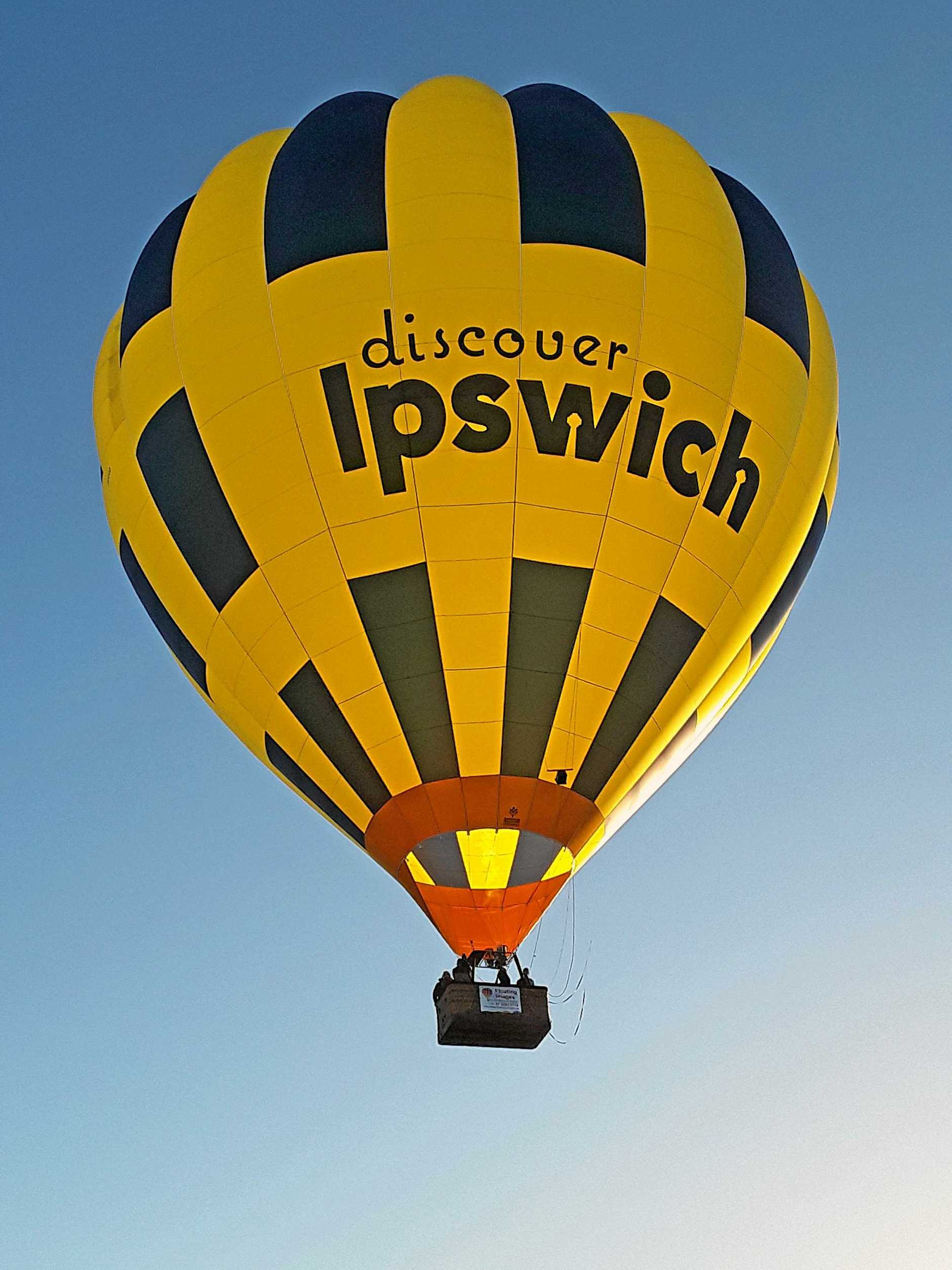 The Discover Ipswich balloon is promoting the city.