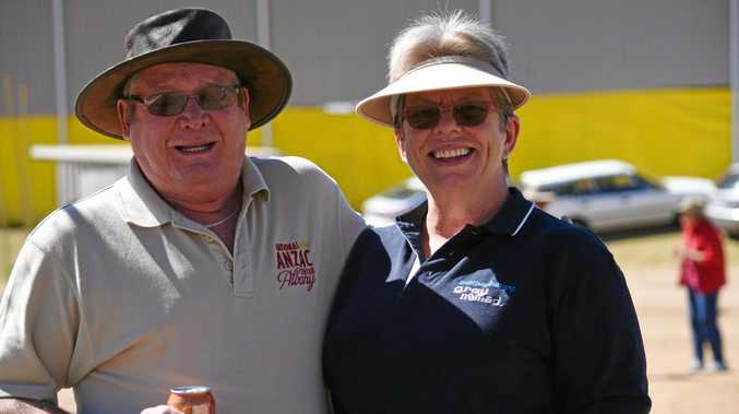 Garry and Pam Jackson at the Gatton Heavy Horses display, April 2017.