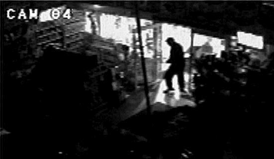 A still from CCTV footage of the lego theft from the Toy Kingdom in Lismore. Photo Contributed