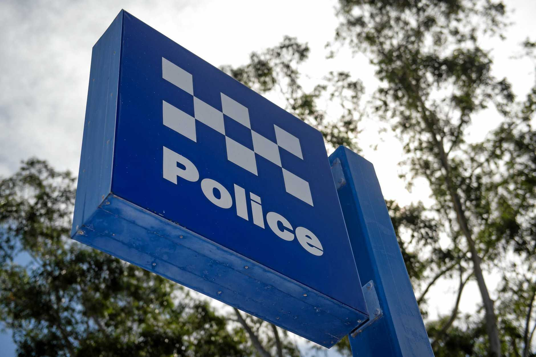 Police were on the scene on the New England Highway.