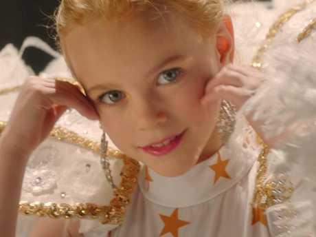 Hannah Cagwin as JonBenet in a scene from Casting JonBenet.