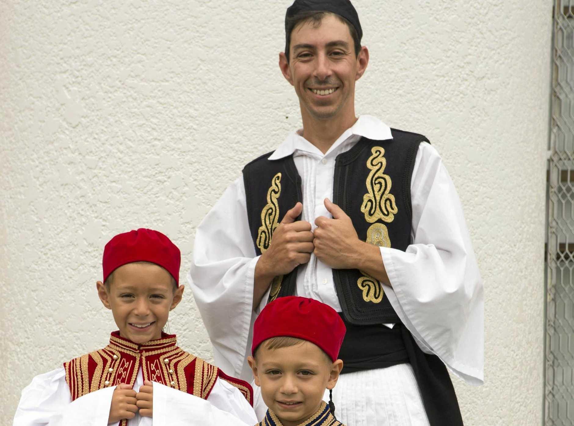 GREEK FESTIVAL: Dancers Manoli Kalligeios and sons.