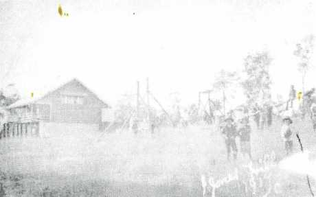 The earliest available photo of the Jones Hill State School. This was taken in 1917.