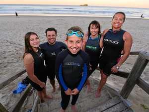 Dali goes solo again for Island Charity Swim