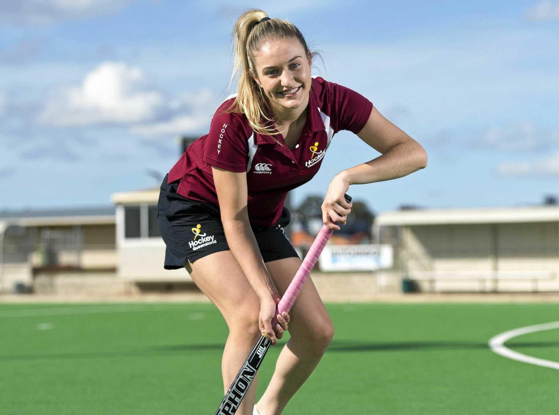 Hockey player Johannah Goschnick was part of the winning Queensland team at the U18 Australian Championships held in Tasmania, Monday, May 1, 2017.