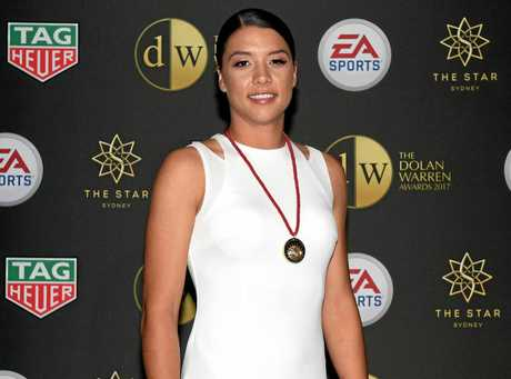 Perth Glory's Sam Kerr won the Julie Dolan Medal at the Dolan Warren Awards in Sydney. The award is presented to the W-League's best player.