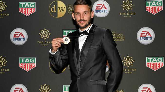 STAR MAN: Sydney FC's Milos Ninkovic is the 2017 Johnny Warren medalist.