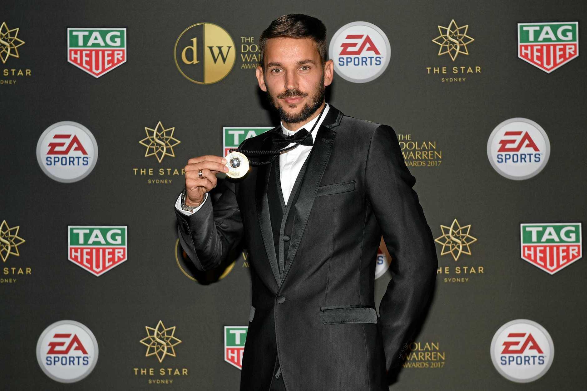 STAR MAN: Sydney FC's Milos Ninkovic is the 2017 Johnny Warren medalist.