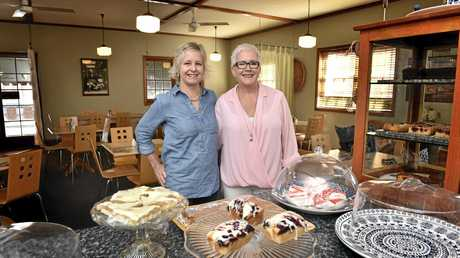 Two Birds' Cafe and Catering owners Chrissy Hodgen (left) Bernadette Morrow celebrate 15 years.