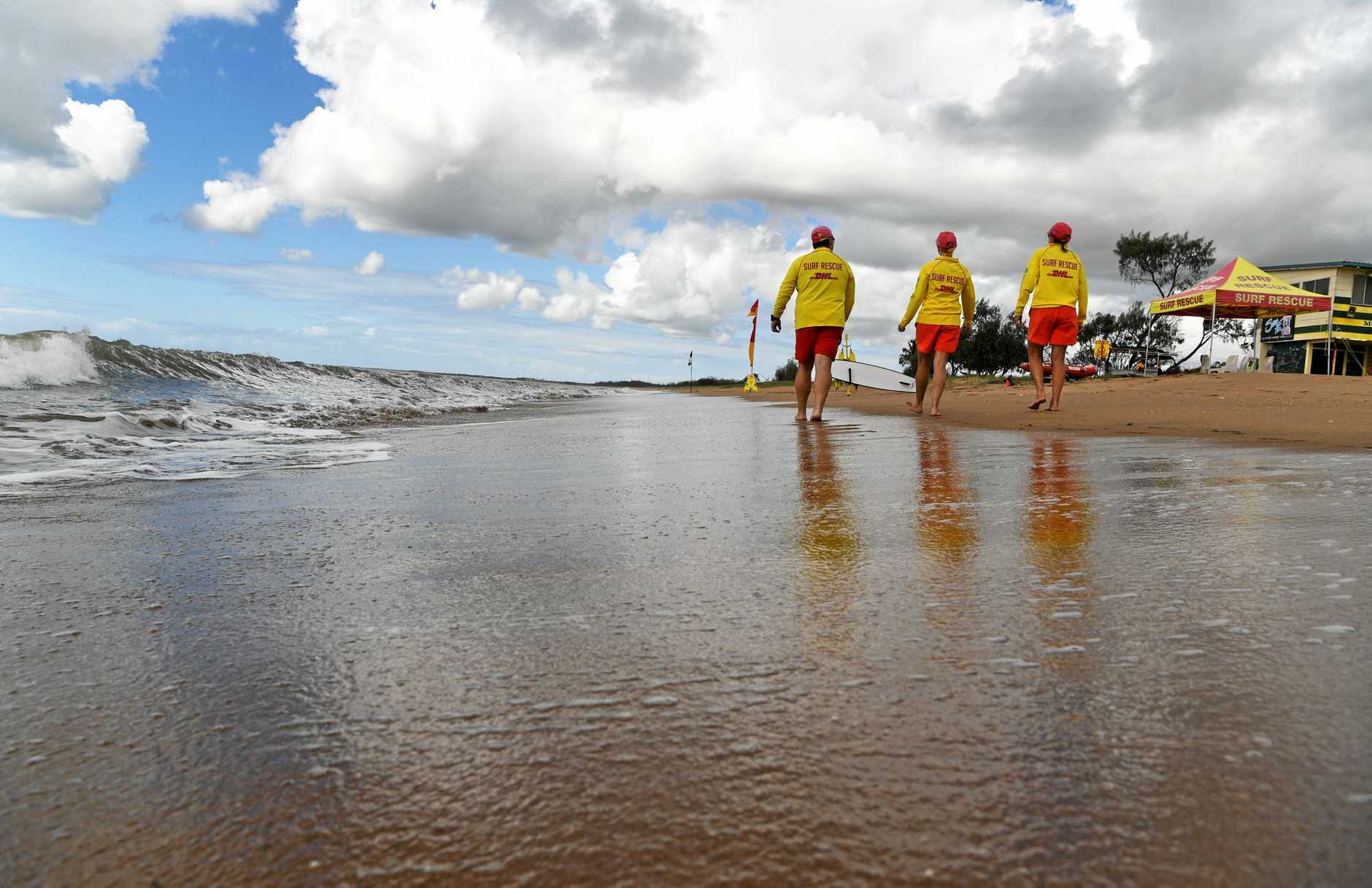 SURF RESCUE: James Cook, Deb Bright and Lynne Messer at Moore Park Beach.
