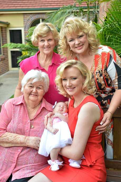 FAMILY CONNECTIONS: Beryl Hoolihan, Karyn de Vere, Iris Atkinson, Emma Novak and Amelia Novak.
