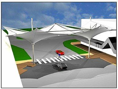SAILING AWAY: A plan of the $1.1 million Coffs City Centre Shade Sails project.
