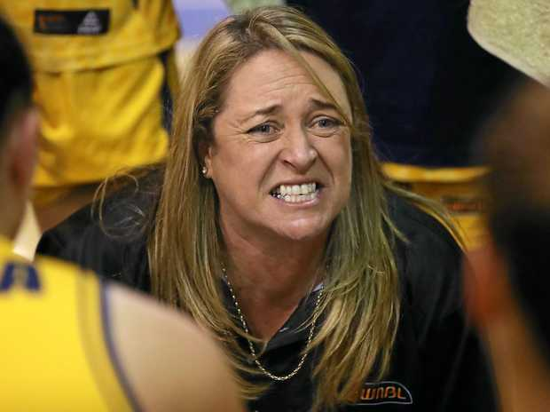 Sydney Flames coach Cheryl Chambers during a timeout.