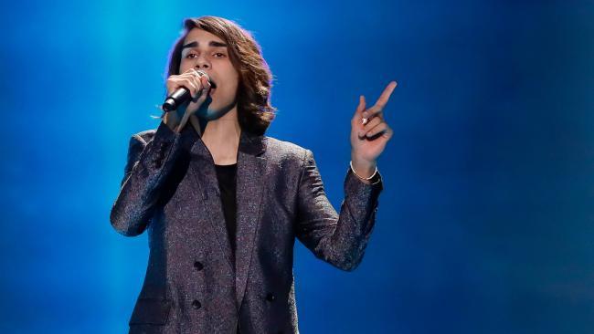 Isaiah Firebrace at first Eurovision rehearsal.