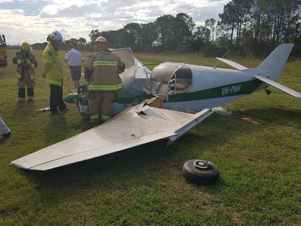 Police are attending reports of a light plane crash at Caboolture Airport.