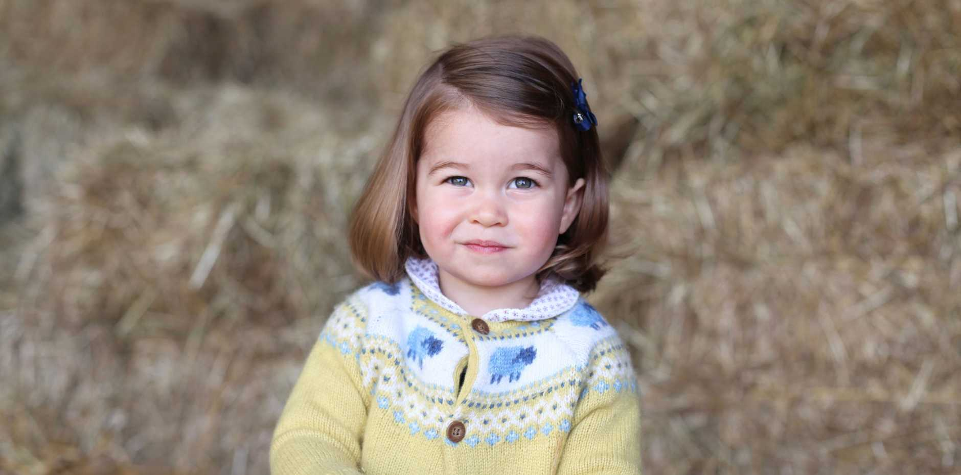 A ROYAL BIRTHDAY: Princess Charlotte, captured by her mother, on the day before her second birthday.
