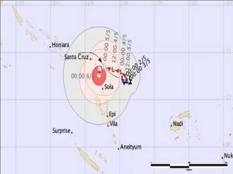 Cyclone Donna bears down on Vanuatu
